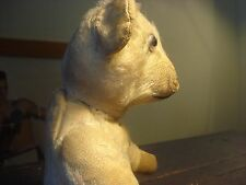 Antique Humpback Teddy Bear Mohair Jointed Stuffed Wood Wool Shaving,Growler Toy