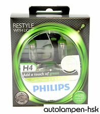 Philips h4 Colorvision Green ampoules halogènes 2er set - 12342 cvpgs 2 + Neuf +