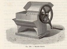 INDUSTRIE BARATTE BEURRE GIRARD IMAGE 1875 INDUSTRY BUTTER MACHINE OLD PRINT