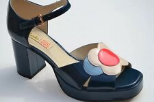 BNIB CLARKS ORLA KIELY BETTY PLATFOTM SHOES SIZE UK 8 US 10.5 EUR 42