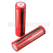 2Pcs 18650 3800mAh 3.7V Batería Recargable Li-ion Para Linterna Flashlight Torch