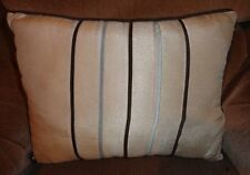 JCP JC Penny Home Collection Stripe Rectangle Pillow Beige Brown Throw Cushion