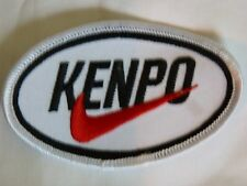 Kenpo Karate patch in black & white with red swoosh