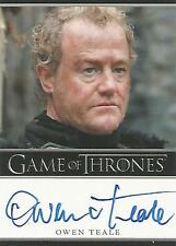 "Game of Thrones Season 1 - Owen Teale ""Allister Thorne"" Autograph Card"