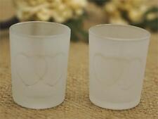 24 pcs HEARTS GLASS Candle VOTIVE HOLDERS for Wedding Party Centerpieces SALE