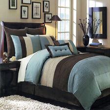 Hudson Blue King Size Luxury 8pc Comforter 100% Polyester Microfiber