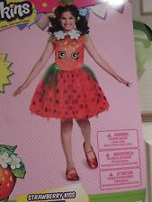 Shopkins Girls Halloween Costume STRAWBERRY KISS Tutu Dress Headband Medium 8-10