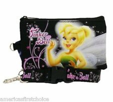 DISNEY TINKERBELL BLACK LANYARD WITH DETACHABLE COIN POUCH/WALLET/PURSE-NEW