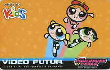 CARTE/CARDS  KIDS VIDEO FUTUR THE POWERPUFF GIRLS - NEUVE ETAT LUXE