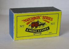 Repro Box Matchbox 1:75 Nr.07 Horse Drawn Milk Float