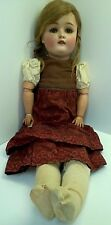 "24"" Antique German 5 SIMON & HALBIG 168/14 Bisque Doll with Sleep Eyes-Stamped"