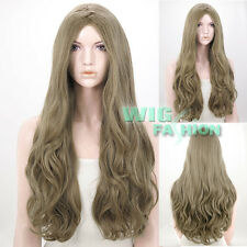 65cm Heat Resistant Long Wavy Ash Blonde Fashion Hair Wig