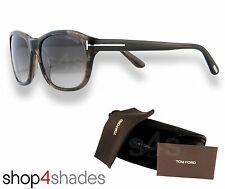 Tom Ford London Gents Sunglasses BROWN/BLACK MARBLE_GRADUATED BROWN FT0396 50K