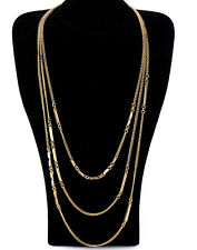 NEW * Urban Anthropolo​​gie Giolla 3 Layered Gold Chain Necklace