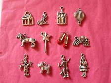 Tibetan Silver Wizard of Oz Themed Mixed Pack of Charms 12 per pack