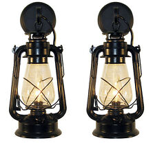 Pair of  Oil Lamp wall sconce Large Black by Muskoka Lifestyle Products