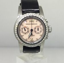 GIRARD PERRAGAUX DIAMOND AUTOMATIC CHRONOGRAPH LADIES WATCH REF.8046 NEW!