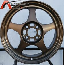 16 ROTA SLIPSTREAM 4X100 SPORT BRONZE RIMS FITS CIVIC MIATA MR2 XB COROLLA