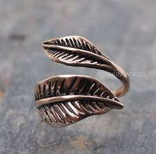 Antique Look Rose Gold Plt Leaf Ring  / Thumb Ring Fully Adjustable ladies gift