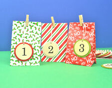 Colourful Paper Bag Advent Calendar Set - Numbers, Bags & Pegs - SALE