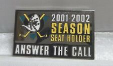 2001-2002 Anaheim Mighty Ducks Season Ticket Holder Pin Answer The Call NEW