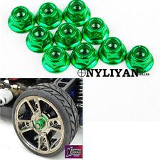 10Pcs Green 1/10 RC Racing Drift Car Alloy Anti-Loose Wheel Rim Lock Nuts