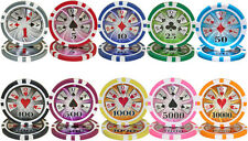 New Bulk Lot 500 High Roller 14g Casino Quality Clay Poker Chips - Pick Chips!