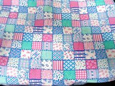 4 1/8 YARDS FABRIC SQUARE SAMPLER STYLE - FLANNEL -For Quilting Sewing Craft X14