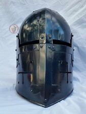 Dark Crusader helm with cheek crosses