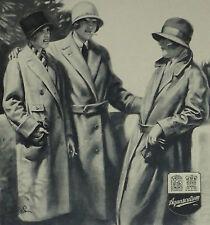Aquascutum Ladies Deco Scutum Eiderscutum Field Coat 1925 Advertisement Ad 6453