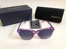 $169 New Authentic Wildfox Cat Eye Sunglasses Parker Pink Clear Blue Gray Fade