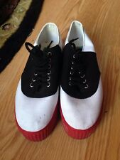 Women's JC Play saddle shoes Platform Canvas Slip lace ups Jeffrrey Campbell