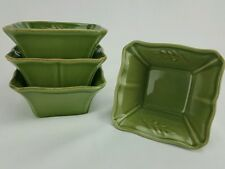 Arenito Stoneware Dish Green Made in Portugal Set of 4 Serving Condiment Dishes