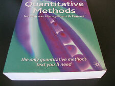 Quantitative Methods for Business, Management and Finance (Englisch) Taschenbuch