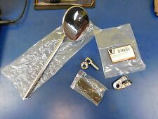 "NEW NOS REAR VIEW MIRROR 10"" LONG STEM 3"" ROUND CHROME HARLEY CUSTOM w/ MOUNT"