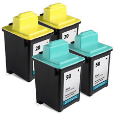 Printronic 4pk for Lexmark #50,20 Ink Cartridges Printers 3100 P3150 P707