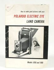 POLAROID ELECTRIC EYE MANUAL FOR MODEL 850   900