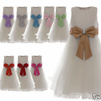 Flower Girl Dress Party Wedding Bridesmaid Age 2 3 4 5 6 7 8 9 10 11 12