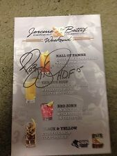 Jerome Bettis Rare Signed Autographed Bettis Grille Menu HOF15 Steelers