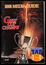1991 GREY CUP CHAMPS CFL FOOTBALL WINNIPEG BLUE BOMBERS GUIDE YEAR BOOK