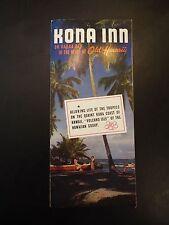 Kona Inn, Old Hawaii Vintage Tourist Brochure