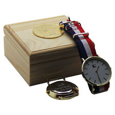 PERSONALISED Designer Wristwatch Luxury Watch Free Engraving Unisex Wooden Case