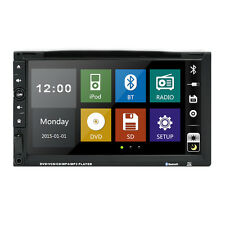 "Double 2 Din 7""Car DVD TF MP3 Player Touch Screen In Dash Stereo Radio Bluetooth"