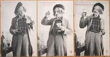THREE 1905 Bergeret French Fantasy Postcards: Wine Maker - 'Fabrication du Vin'