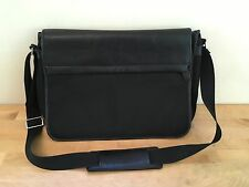 Filofax Black Leather & Nylon Messenger Bag FUSION COURIER