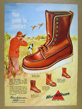 1961 weinbrenner Wood-N-Stream Boots bird hunter hunting art vintage print Ad