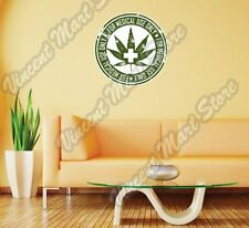 Marijuana Cannabis Medical Use Drug Stamp Wall Sticker Room Interior Decor 22""