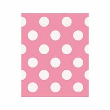 8 Polka Dot Spot Pink Birthday Treat Loot Gift Party Bags