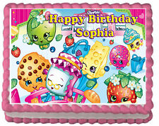 Shopkins Girls Birthday Party Premium Edible Cake Topper