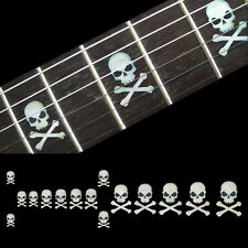 Fret Markers Inlay Sticker Decal For Guitar & Bass - Skull with Crossbones WT